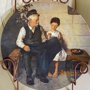 Norman Rockwell Lighthouse Keepers Daughter plate